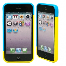 "Бампер для iPhone 5/5s ""Candy colors - blue/yellow"""