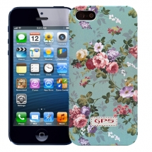 "Чехол для iPhone 5/5s ""Flowers"" (зеленый)"