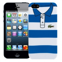 "Чехол для iPhone 5/5s ""Blue and white stripes"", серия ""Sports shirt"""
