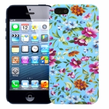 "Чехол для iPhone 5/5s ""Chintz"" (голубой)"