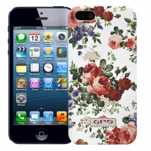 "Чехол для iPhone 5/5s ""Flowers"" (белый)"