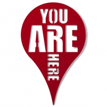 Декор для стен You are here красный