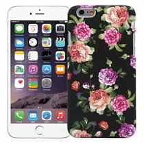 "Чехол для iPhone 6 ""Flowers"" (черный)"