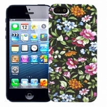 "Чехол для iPhone 5/5s ""Chintz"" (черный)"