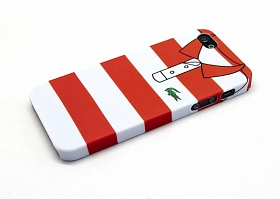 "Чехол для iPhone 5/5s Lacoste ""Red and white stripes"""