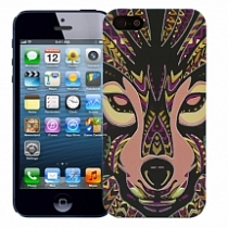 "����� ��� iPhone 5/5s �������������� ""Mosaic wolf"""